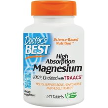 Doctor's Best  High Absorption Magnesium, 120 tabs(100mg)