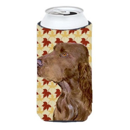 Field Spaniel Fall Leaves Portrait Tall Boy   Hugger - 22 To 24 oz.