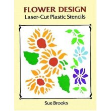 Flower Designs Laser-Cut Plastic Stencils - Used