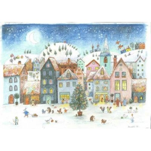 Winter Village Advent Calendar by Bernadette Watts