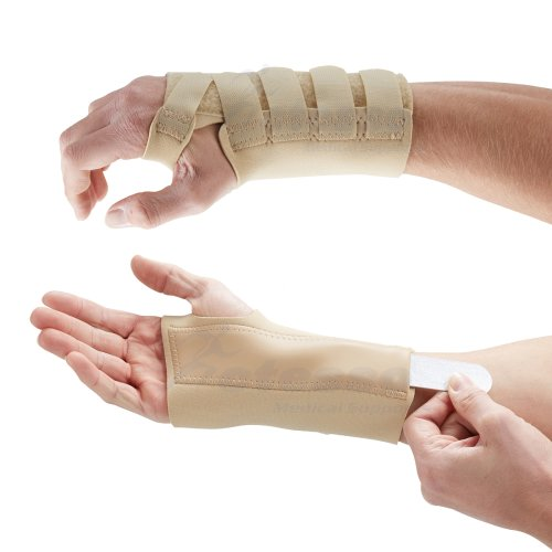 (Small, Right) Actesso Beige Wrist Support Splint - Pain Relief for Carpal Tunnel, Sprains, and Arthritis