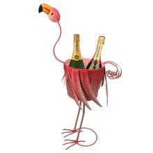URBNLIVING Large Metal Flamingo Champagne Bucket | Novelty Drinks Bucket