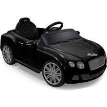 Rastar Bentley GTC Remote-Controlled 12V Battery Powered Car, Black