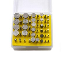 Oudtinz 50pcs Diamond Coated Grinding Head Grinding Burrs Set for Dremel Rotary Tool