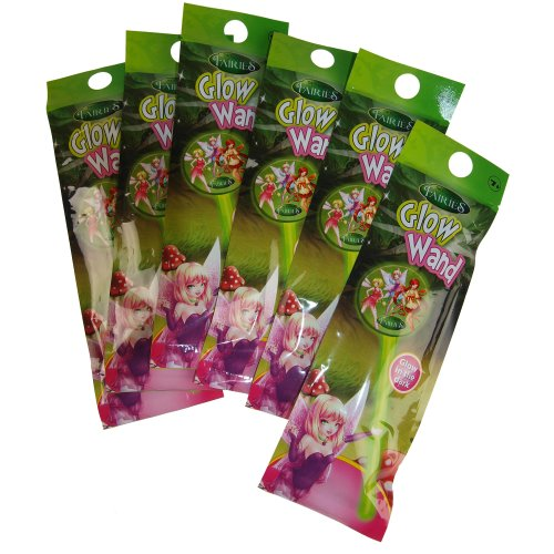 Set Of 6 Fairies Glow Wand Toys - Party Loot Bag Fillers