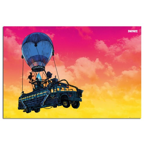 Fortnite Battle Bus Poster Maxi - 91.5 x 61cms (36 x 24 Inches)