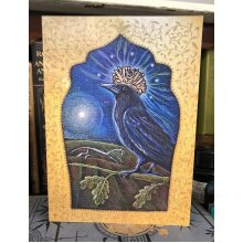 Queen of the Night Greetings card by Hannah Willow