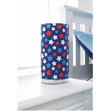 CUT OUT TABLE LAMP CHROME BASE CHILDREN'S LIVING BED ROOM-Blue Stars