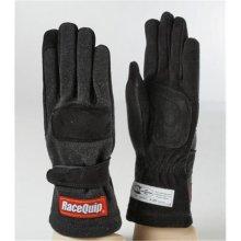 Racequip 355005 2-Layer Model SFI-5 Gloves, Black - Large