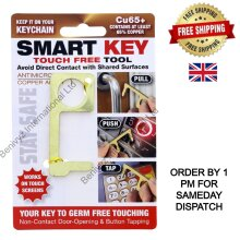 Smart Key Touch Free Tool Contactless No Touch Germs Free Copper  Tool