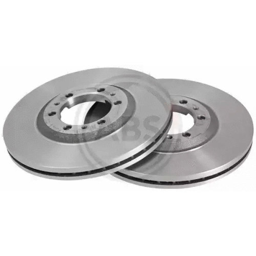 Front Pair (2x) of Brake Disc A.B.S. 16485