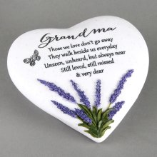 Thoughts Of You Heart Stone / Lavender - Grandma - Widdop