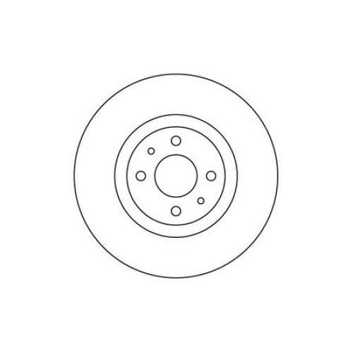 Front Brake Disc - Single for Nissan Almera 1.5 Litre Petrol (10/02-03/06)
