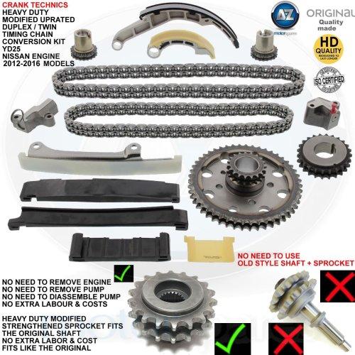 For Nissan Navara 2.5 TD YD25DDTi Diesel Timing chain conversion kit duplex 12->