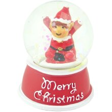 Merry Christmas Elves Behaving Badly Christmas Glitter Snow Globe Waving Elf