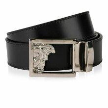 ersace Black Medusa Leather Belt genuine 1 size fit cut belt to size Not Hat Bag Shirt Jumper Coat Jacket Belt Sneaker Polo Trainer Top