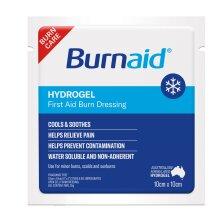 BurnAid Hydrogel Impregnated Dressing 10cm x 10cm