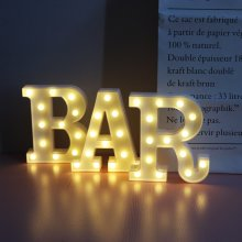 Vimlits BAR - Illuminated Marquee Bar Sign - Lighted LED Marquee Word Sign - Pre-Lit Pub Bar Sign Light Battery Operated