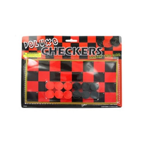 Bulk Buys Toy checkerboard with checkers Case Of 36