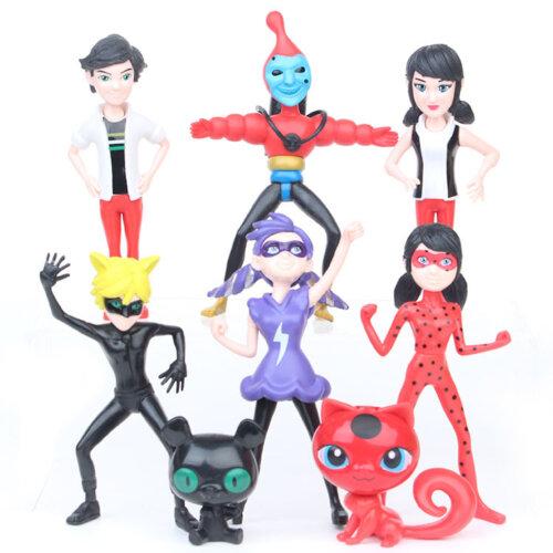 8pcs/lot Miraculous Ladybug Action Figure Toy Movable Model
