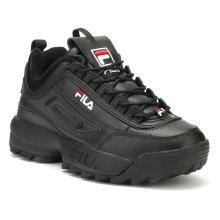 Fila Disruptor II Premium Womens Black / White / Fila Red Trainers