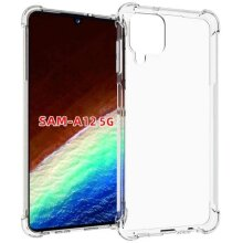 TPU Gel Silicone Back Case Cover for Samsung Galaxy A12 5G Clear Crystal Clear Transparent Shock Proof Ultra Slim Light Weight Corner Protec