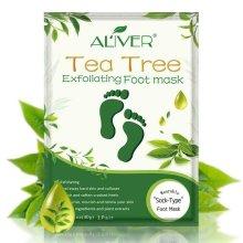 Aliver Tea Tree Exfoliating Peeling Renewable Foot Mask Removes Dead Skin Callus