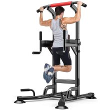 YOLEO Adjustable Power Tower - Pull up Station for Strength Training - Dip Stand Workout Fitness Bar - Push up Equipment of Home Gym Exercise