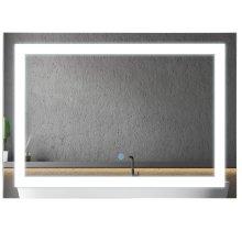 kleankin 70x50cm LED Bathroom Mirror Wall Mounted Vanity Light w/ Touch Switch