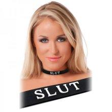 Black Silicone Slut Collar