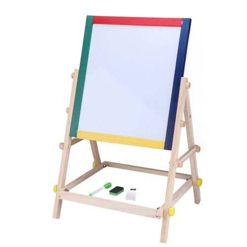 2-in-1 Children's Wooden Drawing Easel