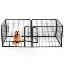 6-Panel Portable Dog Playpen | Foldable Dog Crate
