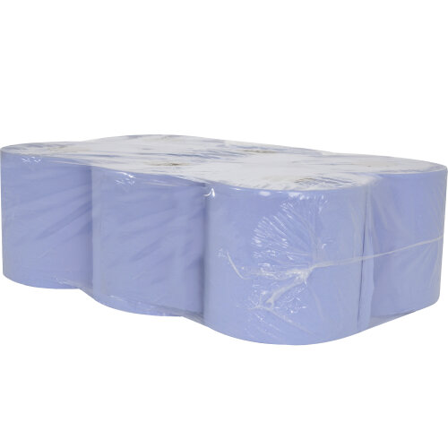 (6 Rolls) Blue Centre Feed Kitchen Towel
