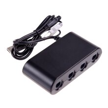 4-Port Nintendo Gamecube Controller Adapter - Works With Switch Wii U & PC