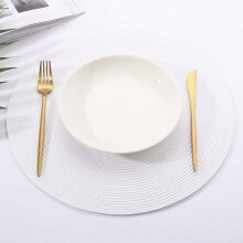 Round Washable Jacquard Woven Non Slip Placemat Dining Table Place Mats Coasters