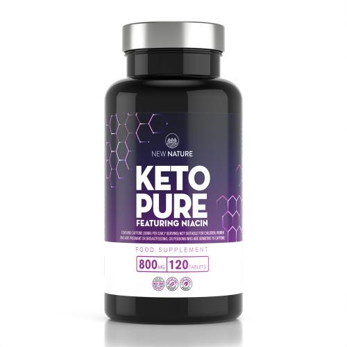 Keto Pure - Keto Diet Pills for Men & Women, Made in UK - 120 Tablets