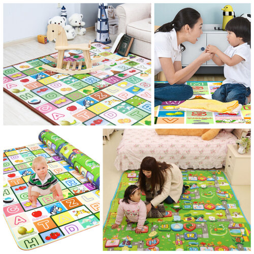 200x180cm Baby Crawling 2 Side Play Mat Game Soft Foam Picnic Carpet
