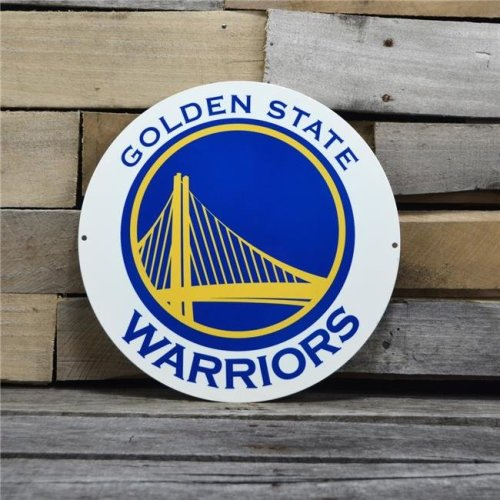 Authentic Street Signs 96006 12 in. Golden State Warriors Primary Steel Logo