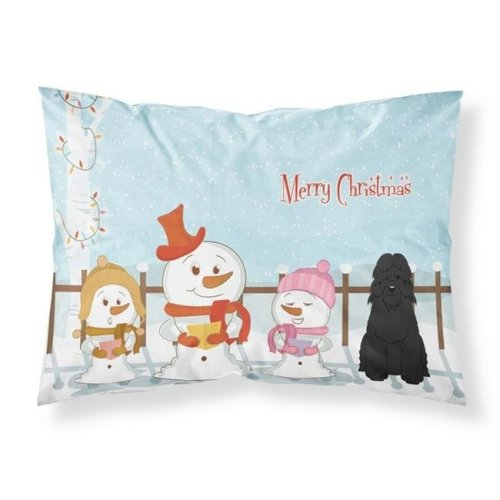 Merry Christmas Carolers Bouvier Des Flandres Fabric Standard Pillowcase, 20.5 x 0.25 x 30 in.