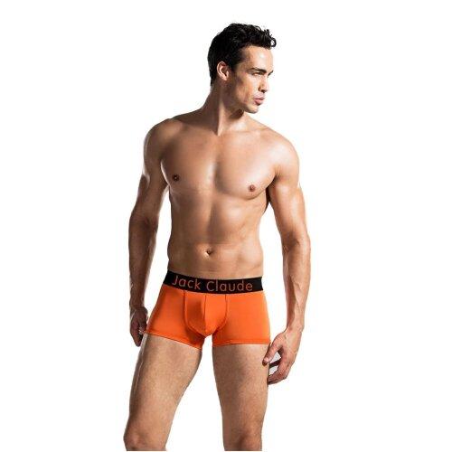 (Orange, M) Jack Claude Mens No Odour Underwear Boxer Trunks