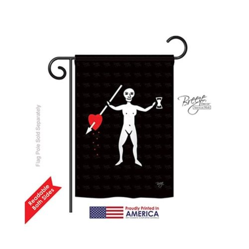 Breeze Decor 57044 Pirate John Phillips 2-Sided Impression Garden Flag - 13 x 18.5 in.