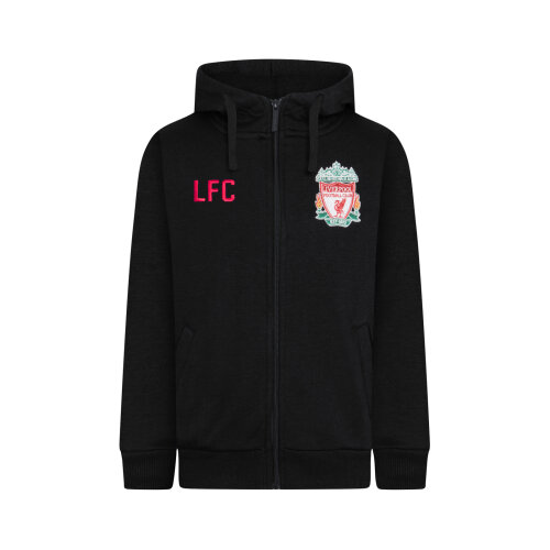 (Black, Medium) Liverpool FC Official Football Gift Mens Fleece Zip Hoody