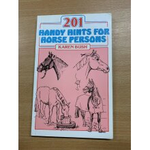 "1993 ""201 HANDY HINTS FOR HORSE PERSONS"" KAREN BUSH PAPERBACK BOOK - Used"
