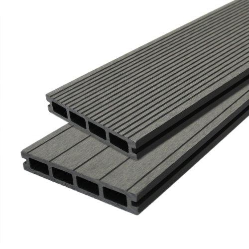Composite Decking Boards Wood Plastic  / 5 SQM Castle Grey