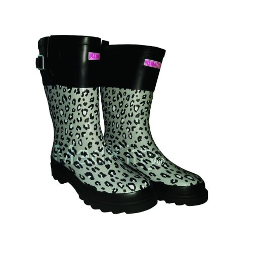 Ladies Half Calf Wellies Grey/Black SLIGHT SECONDS