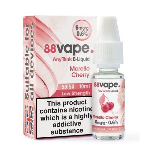 Kik E-Liquid 88Vape 6mg Morello Cherry box of 20 liquids