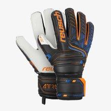 Reusch Attrakt SG Finger Support Mens Goalkeeper Goalie Glove Black/Orange