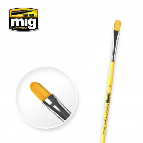Ammo by Mig - Synthetic Filbert Brush Size 4