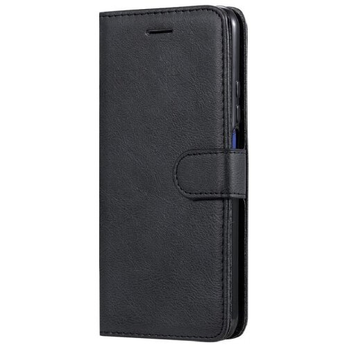 (Black) Case for Samsung Galaxy A71 PU Leather Wallet Stand Cover Flip Case
