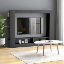 TV Cabinet Grey 152x22x113 cm Chipboard